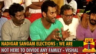 """Nadigar Sangam Elections : """"We are not here to divide any Family"""" – Vishal Kollywood News 09/10/2015 Tamil Cinema Online"""