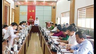 Họp bàn tổ chức Lễ công bố QĐ, đón bằng công nhận TP Uông Bí hoàn thành chương trình NTM năm 2018