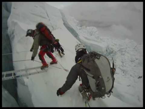 The best Mount Everest Ice Fall video footage you will see. Shot by Theodor