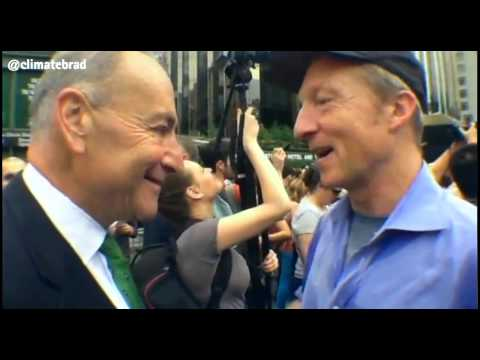 Tom Steyer and Sen. Schumer speak with Brad at #PeoplesClimate