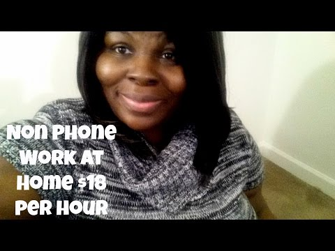 Legit Work at Home Non Phone Work at Home Job that pays $18 per hour