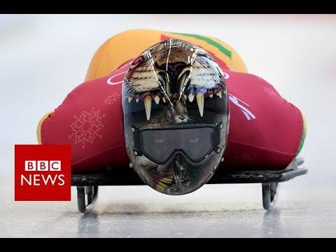 Winter Olympics 2018: Ghana's first skeleton competitor - BBC News (видео)