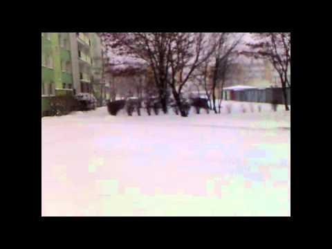 Atak zimy we Włocławku - 15 lutego 2012 roku.