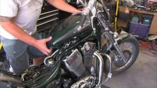 10. 2000 Suzuki Intruder 1400 Vintage Iron remove: seats, tank, front, air box.