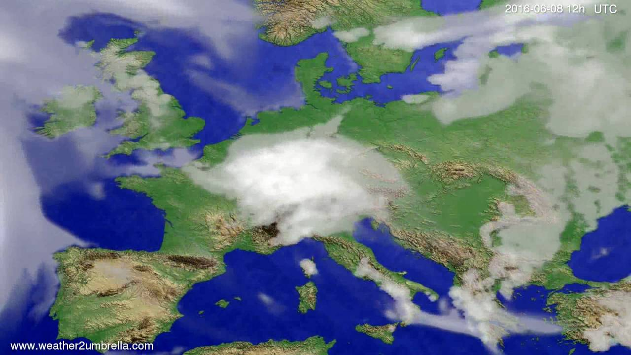 Cloud forecast Europe 2016-06-04
