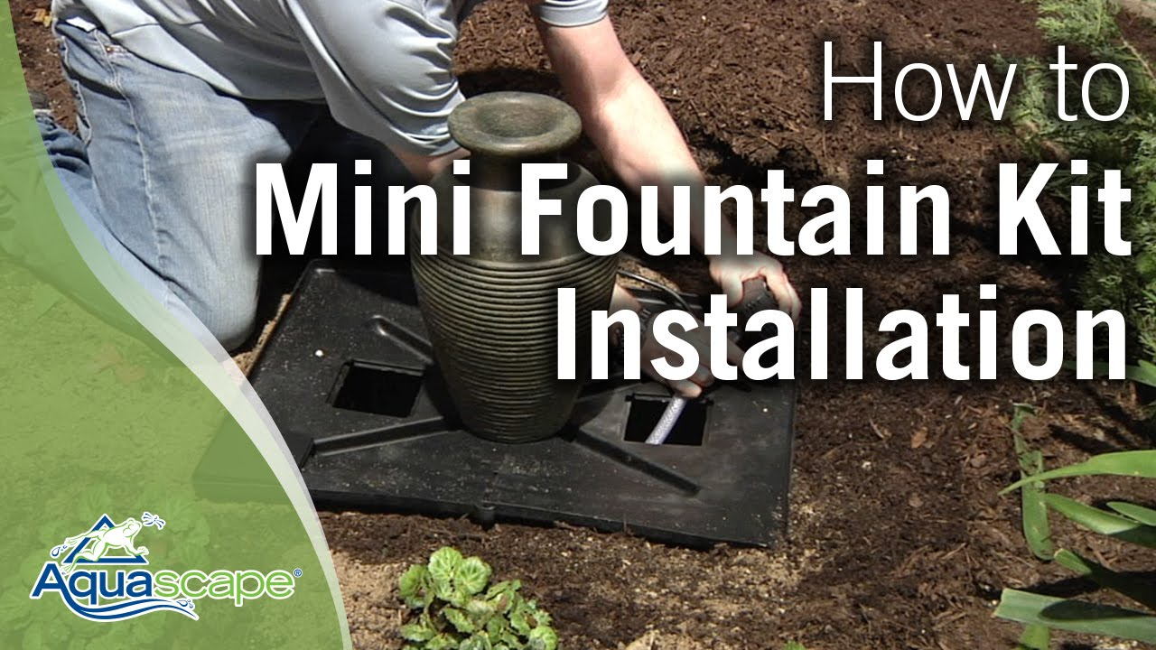 Water fountain pump care - How To Install An Aquascape Mini Fountain Kit