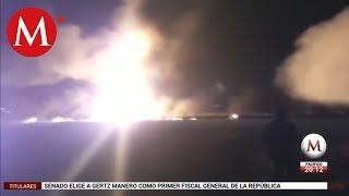 Así fue la explosión del ducto en Tlahuelilpan
