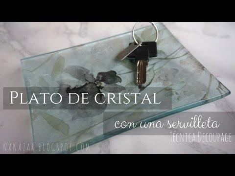 decoupage - come decorare un piatto di vetro con un tovagliolo