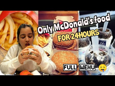 I only ate McDonald's for 24 hours challenge, Food challenge India