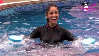 (FULL HD VIDEO) Yami Gautam At 'Speedo Aquafit'  Vertical Underwater Fitness Training  Programme