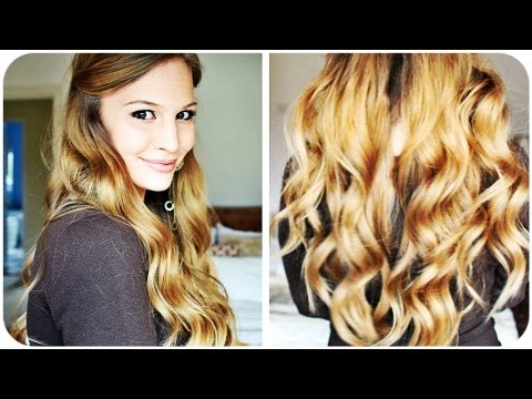 wavy hair - Products Used: GK Hair 4 in 1 Curling Iron Set Ojon Restorative Hair Serum Tresemmé Heat Defence UV Filter Spray Matrix Mega Dust Volumizer The curling iron ...