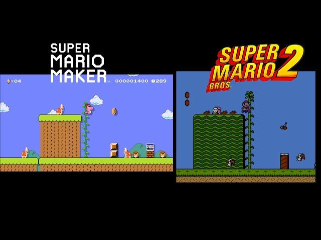 Mario Maker Event Course Comparison Super Mario Bros 2