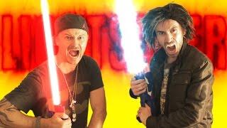 Nerf War: LIGHTSABER Gun!