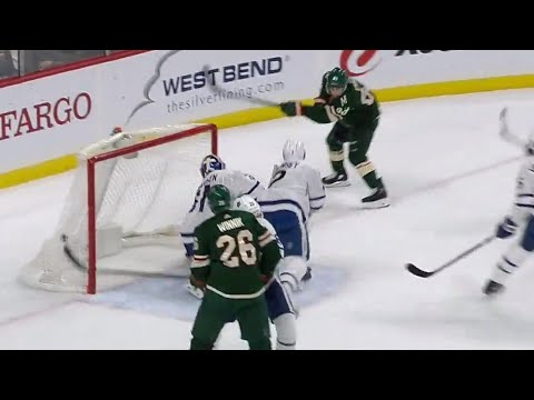 Video: Wild's Ennis opens the scoring off Brown's turnover