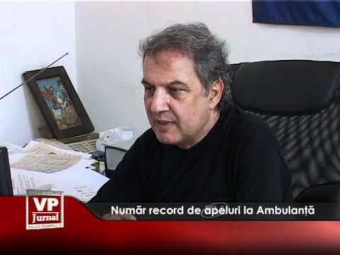 Număr record de apeluri la Ambulanță