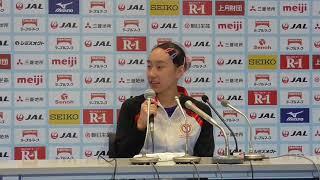 梶田凪選手 大会前記者会見