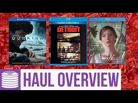 Dunkirk, Detroit, Mother Blu Ray Haul Overview (12/12/17 - 12/19/17)