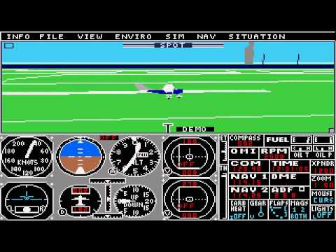 flight simulator 2 atari st