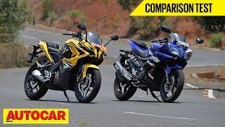 Video Bajaj Pulsar RS 200 vs Yamaha YZF-R15 | Comparison Test | Autocar India MP3, 3GP, MP4, WEBM, AVI, FLV Oktober 2017