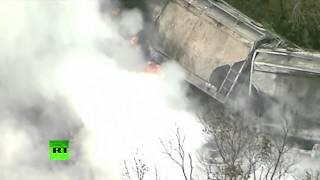 Крушение поезда в США было вызвано столкновением