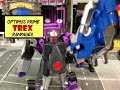 Transformers Rescue Bot Morbot Review l Optimus Prime x Mighty Morphin Black Power Ranger