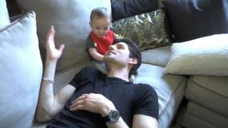 Ben Aaron And His Son Take On The Cheerio Challenge