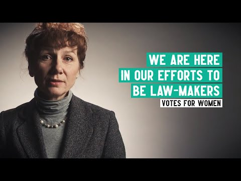 Emmeline Pankhurst | 'We are here in our efforts to become law-makers' speech | Women's Suffrage