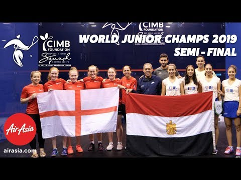 WSF World Junior Championships  2019 - Egypt v England - Semi Final Replay