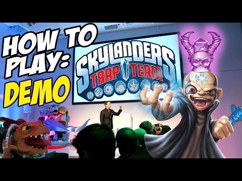 Skylanders Trap Team Gameplay Demo: Snapshot, Chompy Mage, Chill Bill & Shrednaught @ Kaos NYC Event