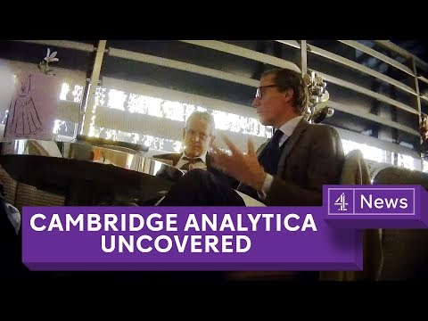 Cambridge Analytica Uncovered: Secret filming reveals election tricks (видео)