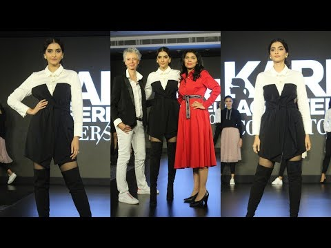 Sonam Kapoor ON RAMP At Launch Of Karl Lagerfeld Collection