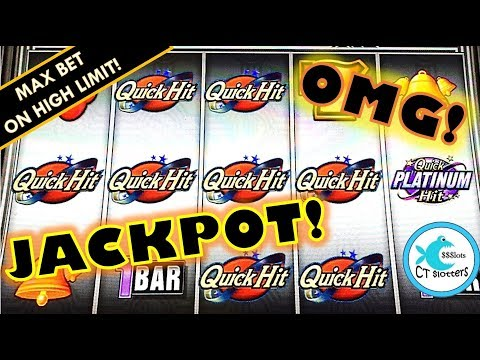 JACKPOT HANDPAY QUICK HIT SLOT MACHINES  HIGH LIMIT MAX BET!