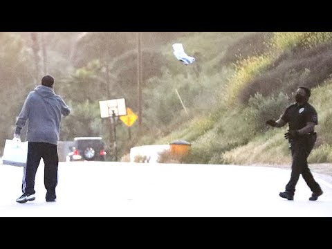Adam Sandler Throws A Burrito To His Security Guard