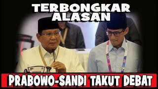 Video PANTESAN PRABOWO SANDI TAKUT DEBAT MP3, 3GP, MP4, WEBM, AVI, FLV Januari 2019