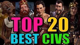 Video Top 20 Best Civs and Leaders in Civilization 6 [Civ 6 Strategy] MP3, 3GP, MP4, WEBM, AVI, FLV Maret 2018