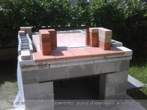 FORNO A LEGNA - Cotruzione step by step di un forno a legna in muratura.