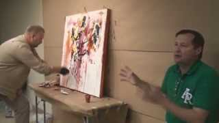 Video master Class of artist Sergey Fedotov in Coral Springs Museum of Arts (USA).