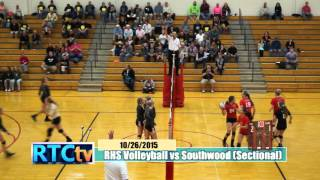 RHS Volleyball Sectional vs Southwood