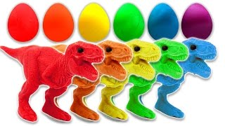 Video Learn Colors with Dinosaurs Play Doh Surprise Eggs for Children and Toddlers MP3, 3GP, MP4, WEBM, AVI, FLV Juli 2017