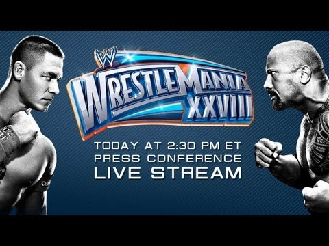 wrestlemania XXVIII - Watch the WrestleMania 28 conference live from Miami Florida Replay Click here to find out how to watch WrestleMania! http://www.wwe.com/shows/howtowatch?cid...