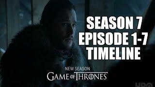 Game of Thrones Season 7  Leaked Scripts  Episode 1-7 Timeline Reddit link: https://www.reddit.com/r/freefolk/comments/57w3yw/my_awayforthelads_season_7_sp...