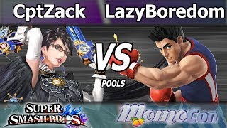 CaptainZack (Bayonetta) vs. BL LazyBoredom (Little Mac) – Wii U Pools – Momocon 2017