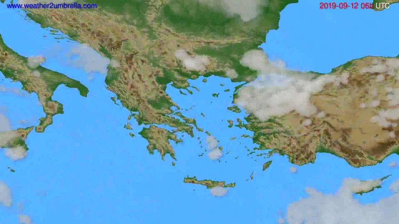Cloud forecast Greece // modelrun: 12h UTC 2019-09-09