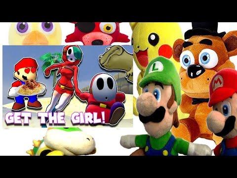 SM64 Valentines 2017: GET THE GIRL! Mario & Luigi Reaction (Freddy,Foxy,Chica,Pikachu,Bowser Jr)