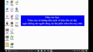 Hướng dẫn cách vô hiệu file cài đặt, ngăn không cho người dùng cài chương trình hay phần mềm lên máy tính Windows 10.Để thực hiện điều này, trong cửa sổ Windows Group Policy, bạn chỉ cần truy cập đường dẫn như sau: Computer Configuration /Administrative Templates / Windows Components /Turn off Windows InstallerTại đây, bạn hãy nhấn đúp vào thiết lập Disable Windows Installer.Lúc này, bạn tiếp tục nhấn chọn Enable và chọn Always trong trình đơn thả xuống thuộc vùng Options ngay bên dưới là hoàn tất.Từ bây giờ, người dùng khác sẽ không thể cài đặt các phần mềm vào máy tính. Tuy nhiên, họ vẫn có thể tải về hoặc di chuyển các tập tin cài đặt trong ổ cứng của máy.