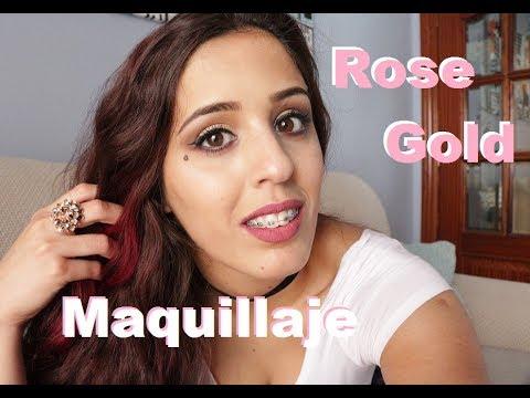 Maquillaje fácil  Rose-gold  Agustyna