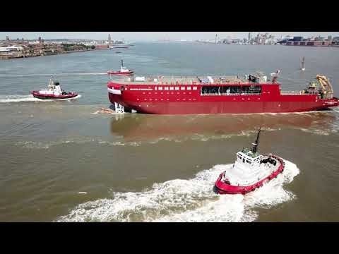 RRS Sir David Attenborough Launch -Cammell Lairds { Mavic & P3 pro}