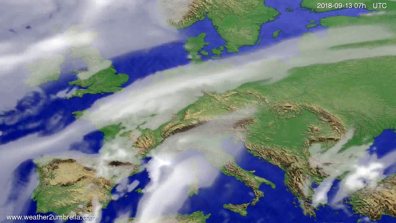 Cloud forecast Europe 2018-09-09