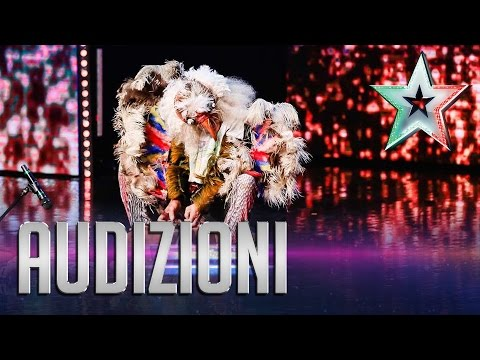 incredibile! claudio, l'uomo uccello - italia's got talent 2015