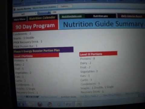 TheP90eX – P90X Nutrition Plan
